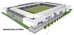 Impressie nieuw stadion Lommel United